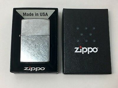 ZIPPO Regular Street Chrome Windproof Lighter #207 Brand New
