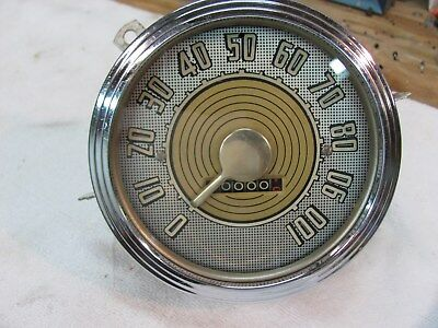 1947 Ford Speedometer 100mph cable driven MODEL 564A Q7 SW 5in rear mount gauge
