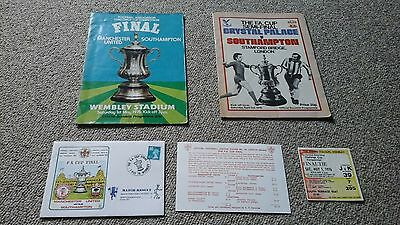 Southampton 1976 FA Cup final ticket programme semi final 1st day cover saints