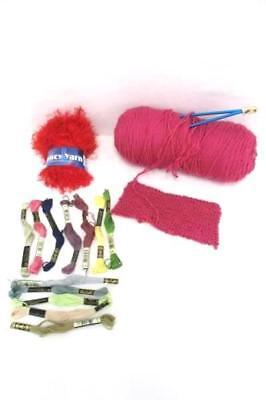 Knitting Embroidery Lot Fancy Yarn Embroidery Thread Skeins Knitting Needles