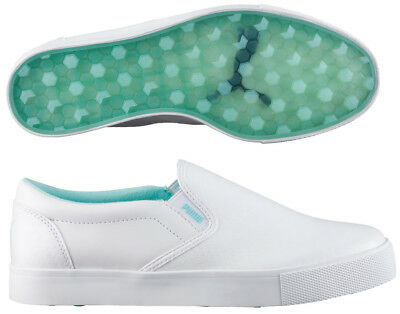 Puma Ladies Tustin Slip On Shoe White/Blue 10 Medium