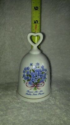Decorative Collectible Forget Me Not Alaska State Flower Bell