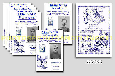 NOTTINGHAM FOREST - REPRO 1920's PINNACE A6 ADVERT CARDS - SET OF 17