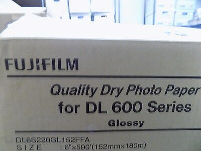 """New Fuji Film Dry Photo Paper Glossy 6"""" by 590' 1 Roll for DL 600 Series"""