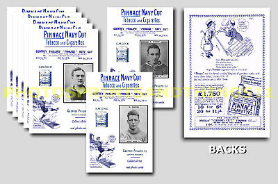 WEST HAM UNITED  - REPRO 1920's PINNACE A6 ADVERT CARDS - SET OF 24
