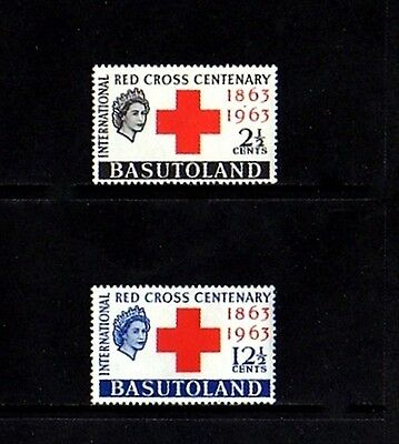Basutoland - 1963 - Qe Ii - Red Cross Centenary - Mint - Mlh -  Set!