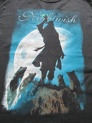 Nightwish 7 Days to The Wolves Black Blue T Shirt S Small M Medium