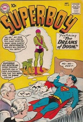 Superboy #83 strict FN+ 6.5  High-Grade 1st Appearance The Kryptonite Kid  Wow