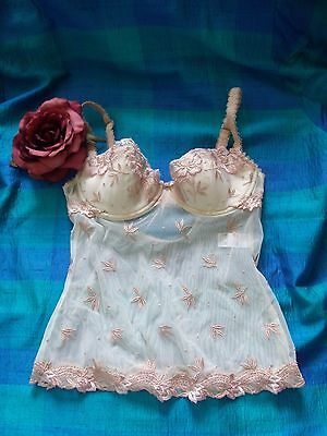 Marks & Spencer Antique Cream Padded Underwired Embroidered Camisole 32C