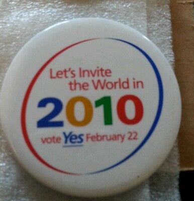 Vancouver 2010 Olympic Bid button