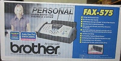 Brother #575 Fax Phone Copier Brand New In Box Free Shipping