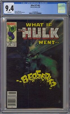 What If #45 CGC 9.4 NM Wp What If Hulk Went Berserk? 1984 Canadian Price Variant
