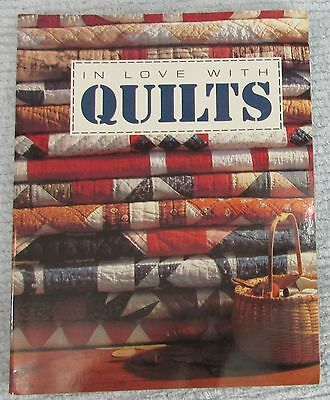 1993 Book In Love With Quilts Patchwork Patterns Color Photos Plans Text FREE SH