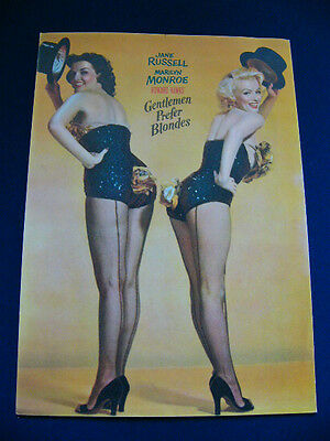 1953 GENTLEMEN PREFER BLONDES Japan VINTAGE PROGRAM Marilyn Monroe Jane Russell