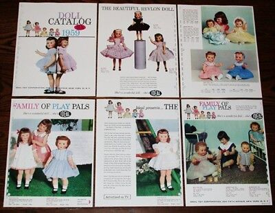 1959 IDEAL DOLL DEALER CATALOG Shirley Temple 1950s DOLLS Full Color Repro pages