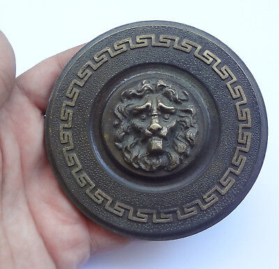 Vintage Solid Brass Door Push-Pull Handle LIONS FACE + Backplate Free Shipping