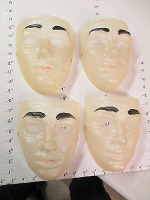 halloween mask 1970s human clear face male painted eyebrows lips MAN #2