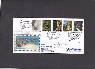 1995 National Trust Benham FDC signed by Hugh Scully