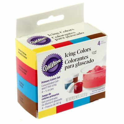 Wilton Primary Icing Colors, Set Of 4 Cake Decorating Frosting Food Coloring New