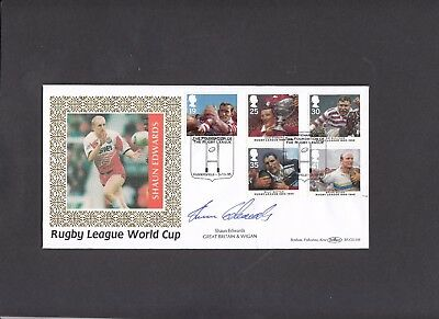 1995 Rugby League Benham FDC signed by Shaun Edwards