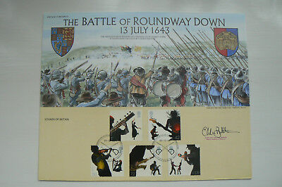 BENHAM HERITAGE OF BRITAIN No 35 SIGNED FDC BATTLE OF ROUNDWAY DOWN