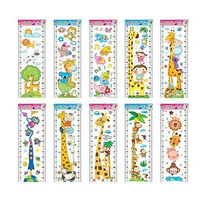 Children Kids Cartoon Measure Growth Height Ruler Chart Home Wall Sticker Decal