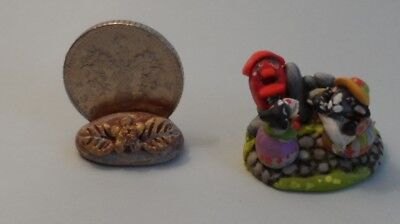 OOAK going to the post box sheep miniature Cottage Kitty