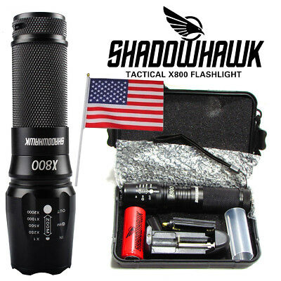10000lm Genuine SHADOWHAWK X800 Tactical Flashlight CREE L2 LED Military Torch