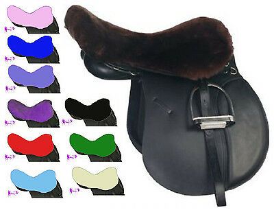 Quality Soft Fur Saddle Seat Saver All Colours & Sizes Available