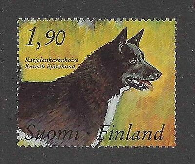 Art Body Study Portrait Postage Stamp KARELIAN BEAR DOG Native Finland 1989 MNH