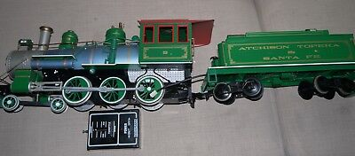 G Scale Bachmann Santa Fe 0-6-0 With Tender Loco Battery Operated