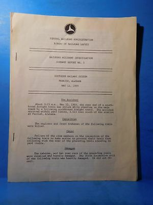 Railroad Accident Investigation Report #3 Southern Railway System 1969