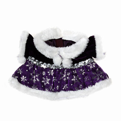 """Purple Snowflake Dress outfit teddy Bear clothes fits 15"""" Build a Bear"""