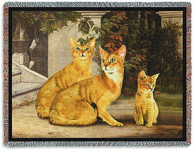 Throw Tapestry Afghan - Abyssinian Family 6252