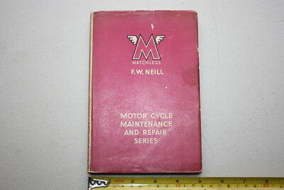 1948 Matchless Motorcycle Maintenance And Repair Book First Edition Vgc