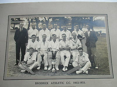 1932 1933  Brodrick Athletic Cricket Club Superb Vintage Photograph Gosport