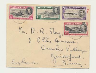 """ASCENSION 1949 2d """"MOUNTAINEER FLAW""""+VALUES TO 1sh ON COVER TO UK (SEE BELOW)"""