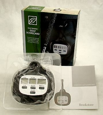 New Unopened Factory Packed Brookstone Electronic Golf Scorecard Perfect Gift