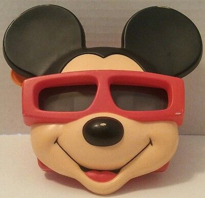 MICKEY MOUSE VIEW-MASTER 3D With HOLLYWOOD MICKEY REEL Walt Disney SUNGLASSES