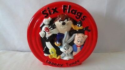 Warner Brothers 1998 Six Flags Seven Characters Bank #J433.