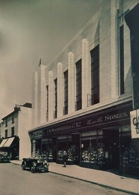 "WOOLWORTH'S, c1937 WEEK STREET, MAIDSTONE, KENT 7X5"" REPRODUCED PRINT"
