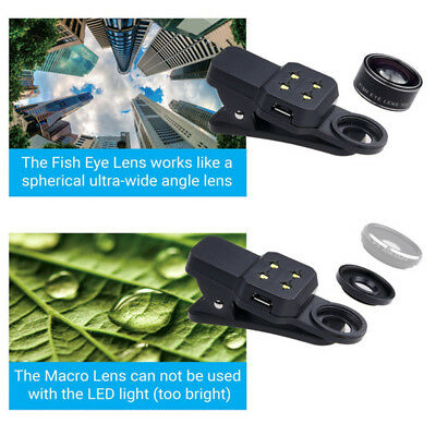 0.4x Wide Angle Macro Photo 198° Fisheye Lens Clip for Mobile Phone Camera