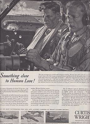 1943 Curtiss Wright Ad Wright Cyclone Radial Engine R-1820 B-17 Flying Fortress