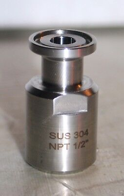 """1/4"""" x 1/2"""" FNPT Sanitary Tri-clamp Adapter Fitting  Debro SUS-304-1/2"""