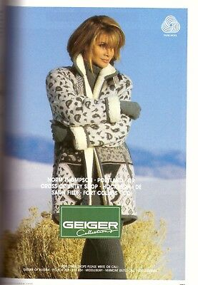 1993 Geiger of Austria Paula Abdul Fashion Print Advertisement Ad Vintage 90s
