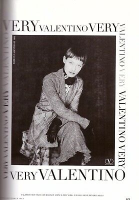 1993 Very Valentino Boutique Fashion Clipping Advertisement Vintage Ad VTG 90s