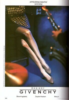 1993 Givenchy Hosiery Pantyhose Stockings Print Advertisement Ad Vintage VTG 90s