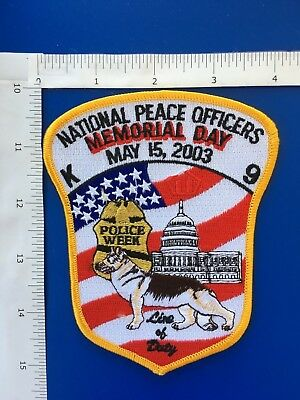 National Peace Officers Police Week  Shoulder Patch