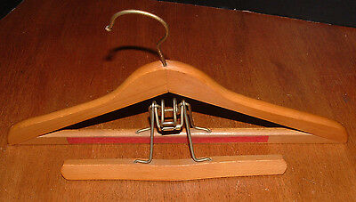 VINTAGE Large Heavy Duty High Quality Wood Suit Coat Hangers