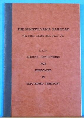 Pennsylvania Railroad Instructions for Employees in Electrified Territory 1933